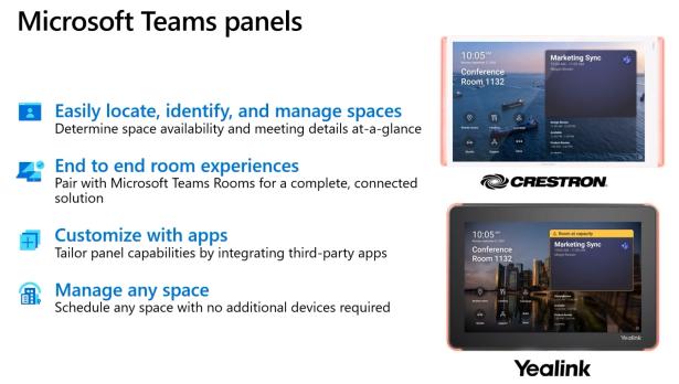 Microsoft Teams Panels Übersicht